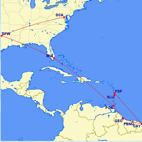 Guyana travel Map Jason Around the World