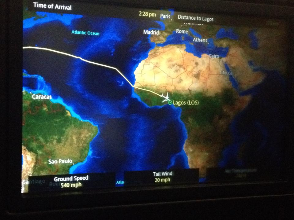 IAH to LOS map
