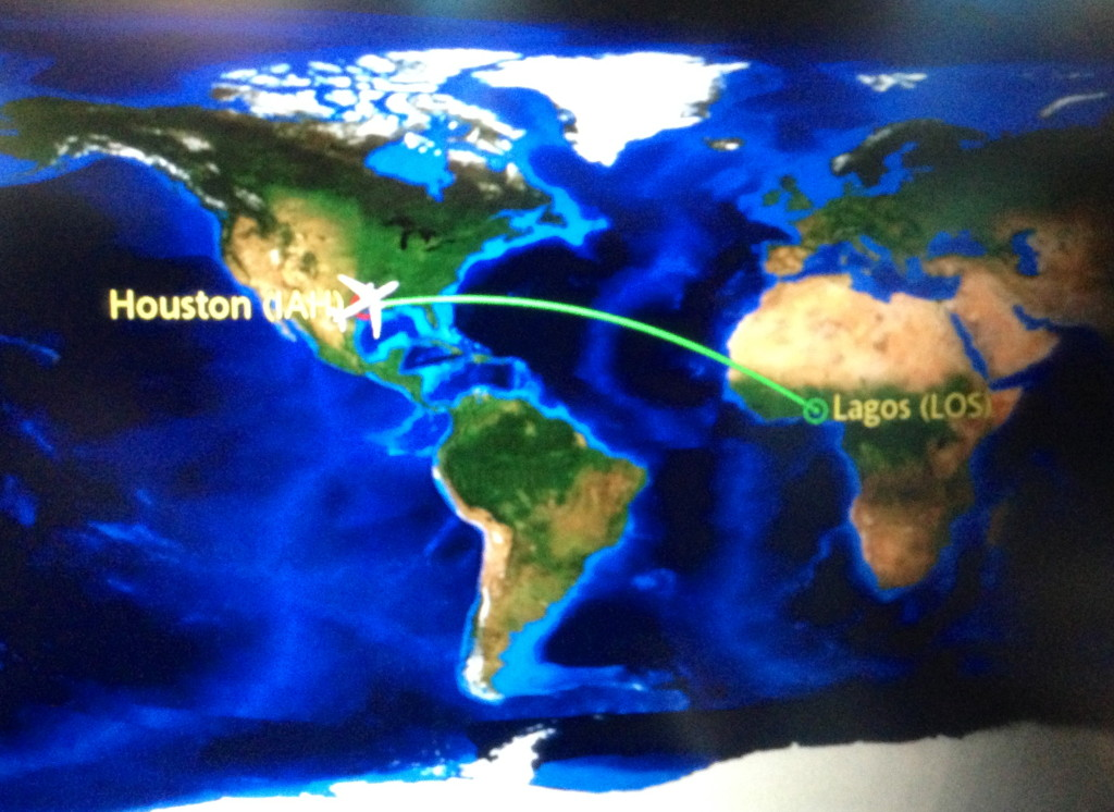 IAH to LOS flight path