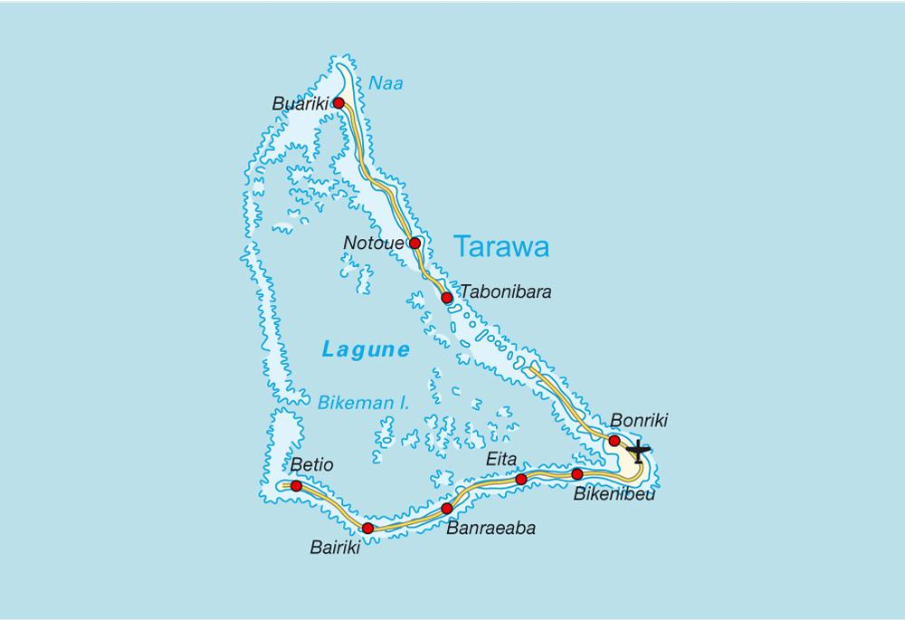 Overnight On Tarawa Kiribati Jason Around The World - tarawa atoll map